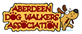 aberdeen dog walkers association logo catoon dog with big eyes